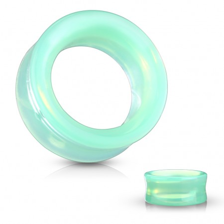 Glass saddle fit tunnel of green opalite