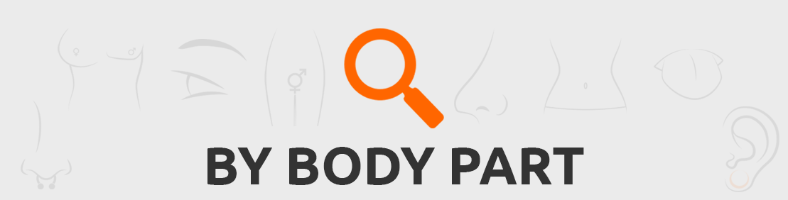 Search piercings by body part